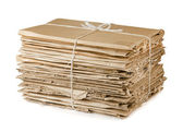 Waste cardboard — Stock Photo