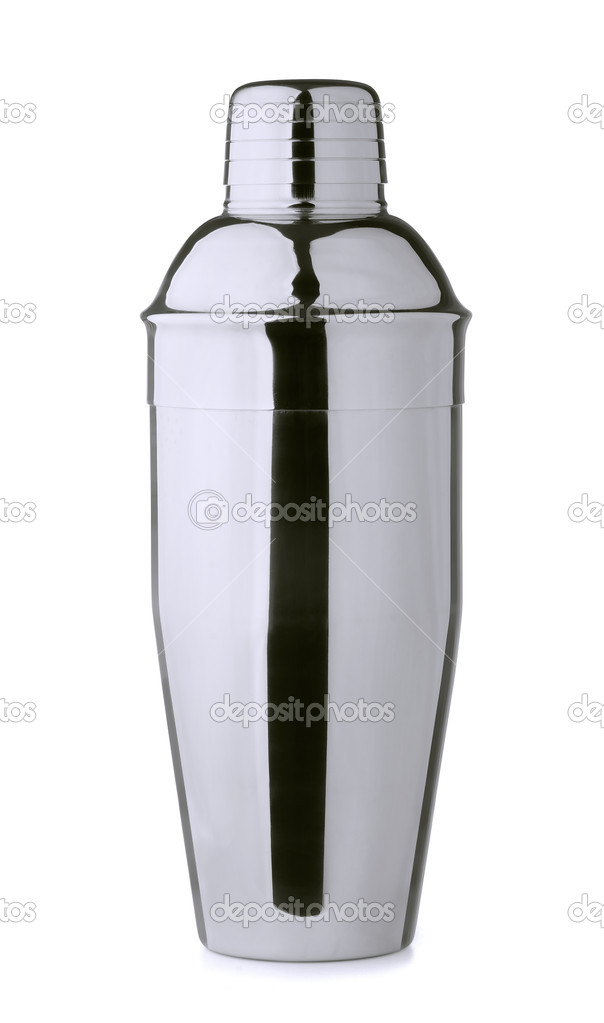 Stainless steel cocktail shaker isolated on white — Stock Photo #11293193