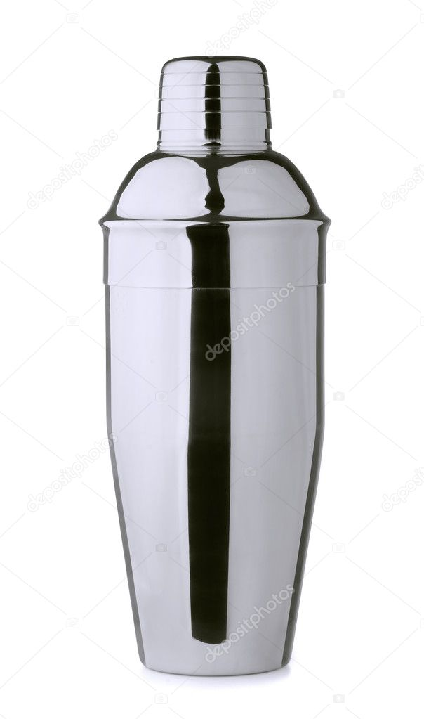 Stainless steel cocktail shaker isolated on white — Stockfoto #11293193