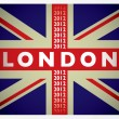 London 2012 flag — Stock Vector
