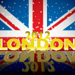 London 2012 modern flag — Stock Vector