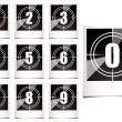 Photo countdown — Stock Vector