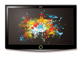 LCD TV Splat screen — Stock Vector