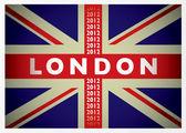 London 2012 flag — Stock Vector