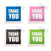 Thank you tag — Stock Vector