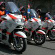 Stock Photo: Swiss police on motorcycles