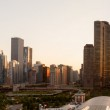 Sunset over Chicago from Navy Pier — Stock Photo