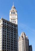 芝加哥 tribune 塔和箭牌大厦 — 图库照片