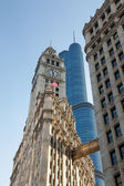 Wrigley building and Trump tower Chicago — Stock Photo