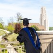 Graduate of UPitt in Pittsburgh - Stock Photo