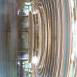 Stock Photo: Fast moving carousel at Glen Echo park