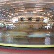 Fast moving carousel at Glen Echo park - Stok fotoğraf