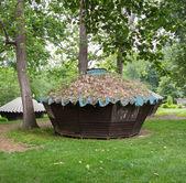Wooden Yurts at Glen Echo — Stock Photo