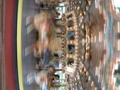 Fast moving carousel at Glen Echo park — Stock Photo