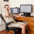 Senior male working in home office — Stock Photo #11298023