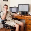 Senior male working in home office — Stock Photo #11298028
