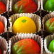 Macro image of marzipan fruit candies — Lizenzfreies Foto