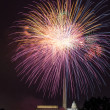 Fireworks over Washington DC on July 4th — Stock Photo