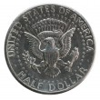 Macro image of one dollar US coin — Stock Photo