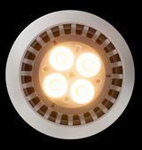 LED light bulb lit from above — Stock Photo