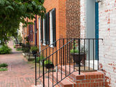Street scene in Frederick Maryland — Stock Photo