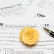USA tax form 1040 for year 2012 — Stock Photo