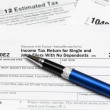 USA tax form 1040ez for year 2012 — Stock Photo