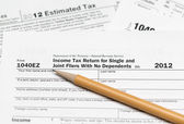 USA tax form 1040ez for year 2012 — Foto Stock