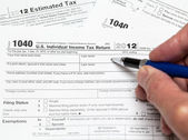 USA tax form 1040 for year 2012 — Foto Stock