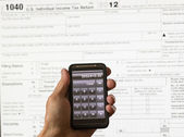 USA tax form 1040 for year 2012 and calculator — Foto Stock