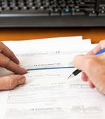 USA tax form 1040 for year 2012 with check — Stock Photo
