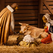 Nativity scene is a depiction of the birth of Jesus as described in the gospels of Matthew and Luke. — Stock Photo #10973775