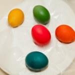 Egg dying — Stock Photo