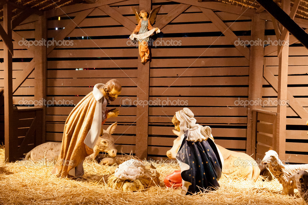 Nativity scene is a depiction of the birth of Jesus as described in the gospels of Matthew and Luke. — Stock Photo #10973765