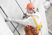 Facade Plasterer worker at work — Stock Photo