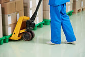 Medical warehouse works — Stock Photo