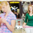 Women at supermarket shopping — Stock Photo #11237889