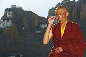 Indian tibetan monk sadhu — Stock Photo