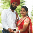 Stock Photo: Happy indian young adult married couple