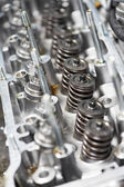 Close-up of automobile cylinder head — Stock Photo
