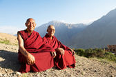 Two Indian tibetan monk lama — Stock Photo