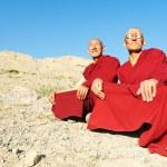 Two Indian tibetan monk lama — Stock Photo #12337969