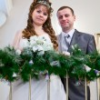 Loving newlywed couple in registry office — Stock Photo #10950231