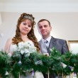 Loving newlywed couple in registry office — Stock Photo #10950234