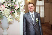 Handsome young groom — Stock Photo