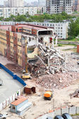 Building demolition for new construction — Stock Photo