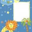 Baby frame or card. Vector illustration — Stock Vector