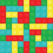 Construction blocks seamless pattern — Stock Vector