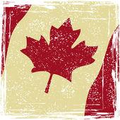 Canadian grunge flag — Stock Vector