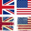 British and American flags — Stock Vector
